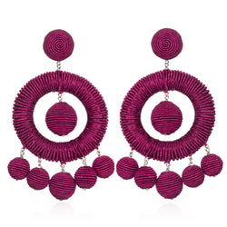 Silk Chandelier Hoop Earrings - Suzanna Dai