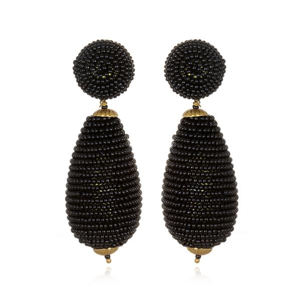 Bead Wrapped Teardrop Earrings - Suzanna Dai