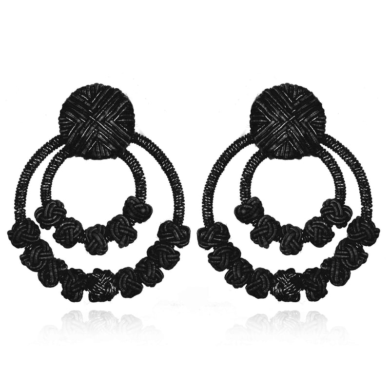 Chang'an Passementerie Double Hoop Earrings - Suzanna Dai