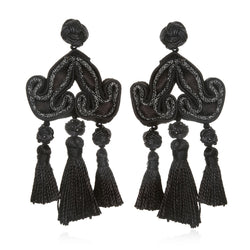 Shanghai Triple Tassel Earrings - Suzanna Dai
