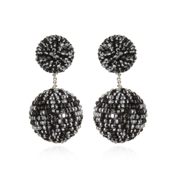 Beaded Double Gumball Drop Earrings - Suzanna Dai
