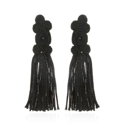 Qingdao Fringe Drop Earrings - Suzanna Dai