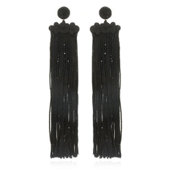 Qingdao Fringe Long Drop Earrings - Suzanna Dai