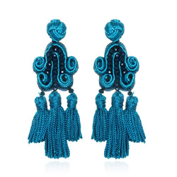Tianzifang Tassel Drop Earrings - Suzanna Dai