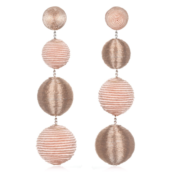 Silk/Metallic Cord Mix Mis-matched Gumball Drop Earrings - Suzanna Dai