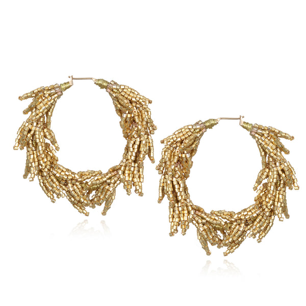 Laurel Large Hoop Earrings - Suzanna Dai