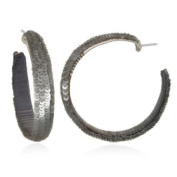 Jinshanling Sequined Hoop Earrings - Suzanna Dai