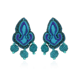 Shanghai Knotted Button Earrings - Suzanna Dai