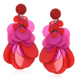 Aphrodite Large Paillette Earrings - Suzanna Dai