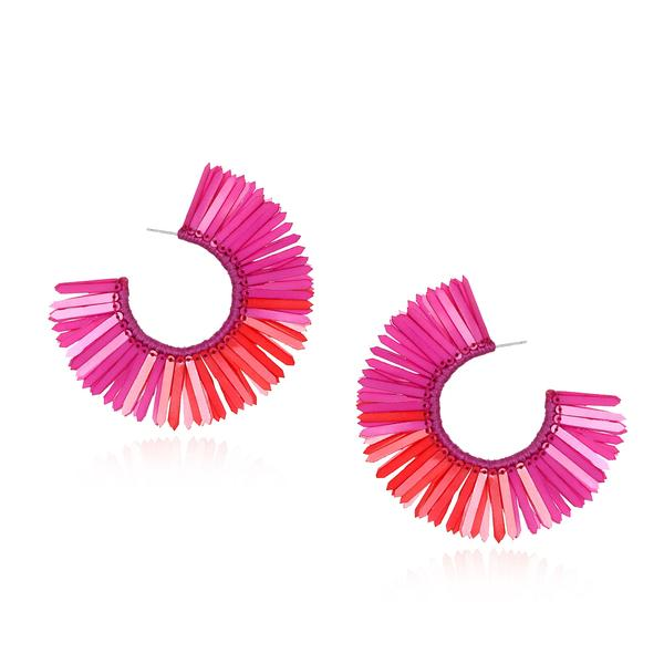 Karaja Small Paillette Hoop Earrings - Suzanna Dai