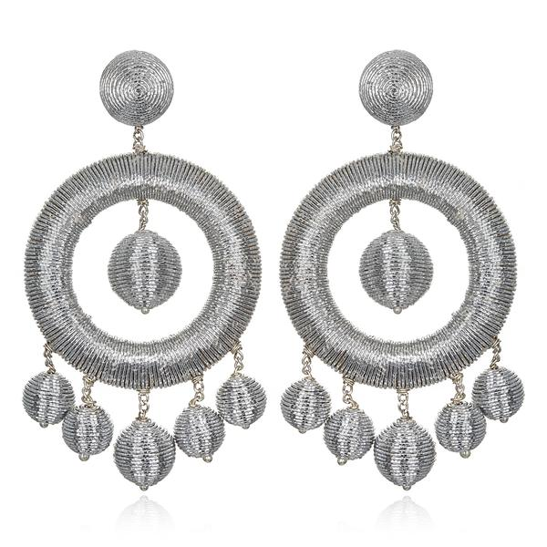 Metallic Chandelier Hoop Earrings - Suzanna Dai
