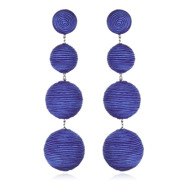 Silk Gumball Drop Earrings - Suzanna Dai