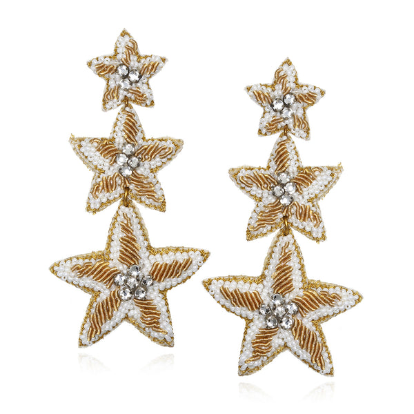 Caicos Starfish Drop Earrings - Suzanna Dai
