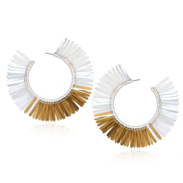 Karaja Large Paillette Hoop Earrings - Suzanna Dai