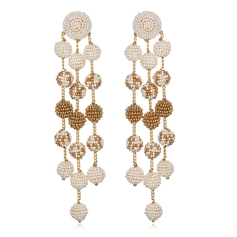 Samburu Long Chandelier Earrings - Suzanna Dai