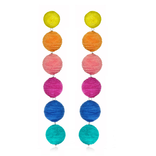 Silk Long Gumball Earrings - Suzanna Dai