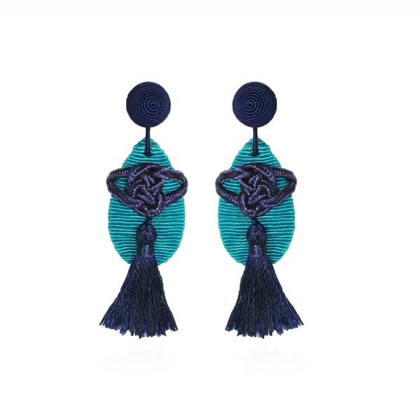 Forbidden City Tassel Earrings - Suzanna Dai