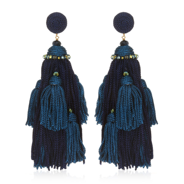 Ornate Tassel Earrings - Suzanna Dai