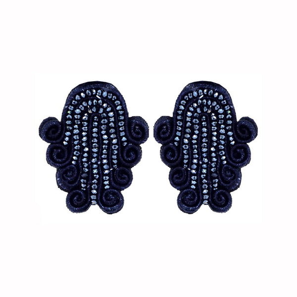 Tianzifang Large Button Earrings