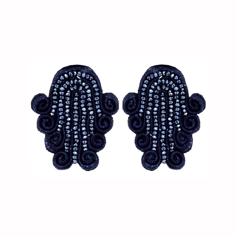 Tianzifang Large Button Earrings - Suzanna Dai