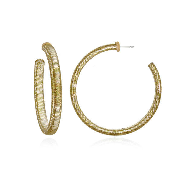 Metallic Mallorca Hoop Earrings - Suzanna Dai