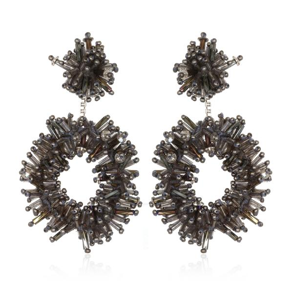 Fireburst Hoop Earrings - Suzanna Dai