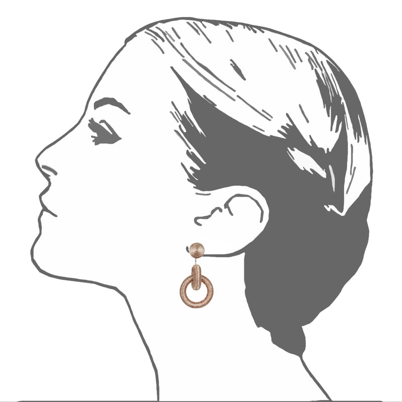 Metallic Double Tiered Hoop Earrings - Suzanna Dai