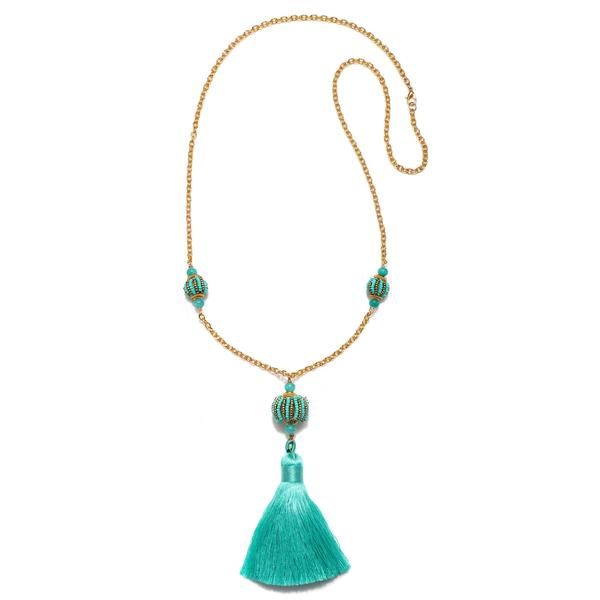 Lisboa Long Tassel Necklace - Suzanna Dai