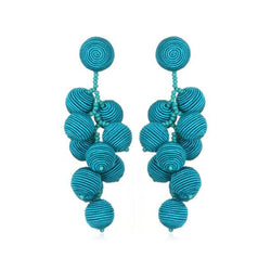 Silk Gumball Cluster Earrings - Suzanna Dai