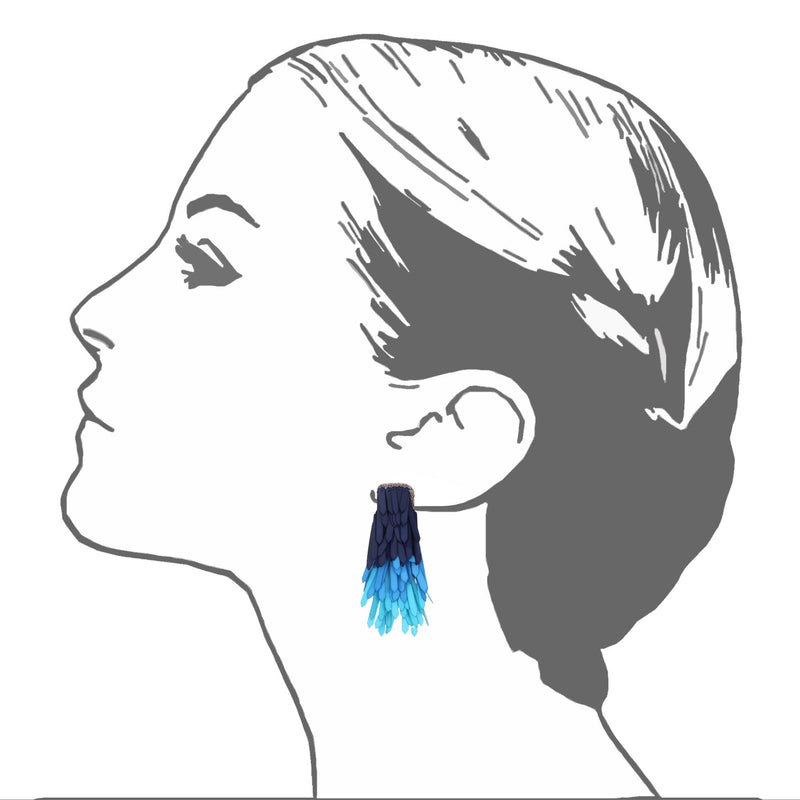 Karaja Paillette Fringe Earrings - Suzanna Dai