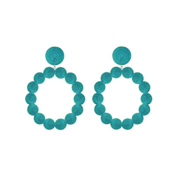 Silk Sardegna Hoop Earrings - Suzanna Dai