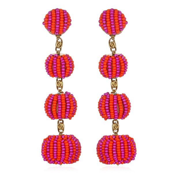 Striped Gumball Drop Earrings - Suzanna Dai