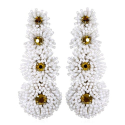Lotus Fireburst Tiered Drop Earrings - Suzanna Dai