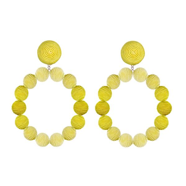 Silk Ombré Large Sardegna Hoop Earrings - Suzanna Dai