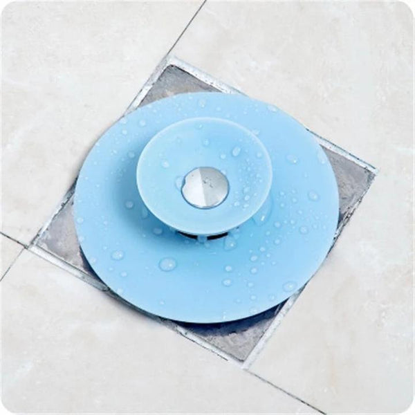 Press Type Silicone Sink Strainers, Kitchen Bathroom Anti-Clogging Sink Filter Sundry Catchers Floor Drain Cover - Carrywon