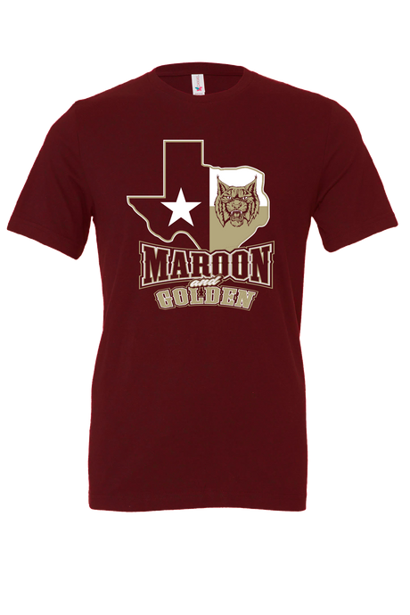 Maroon and Golden Official Shirt
