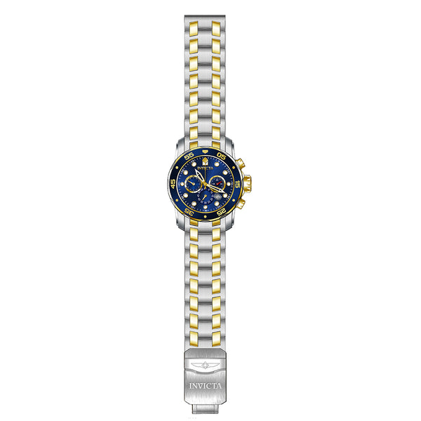 INVICTA Pro Diver Men 48mm Stainless Steel Gold + Stainless Steel Blue dial 5030.D Quartz 0077