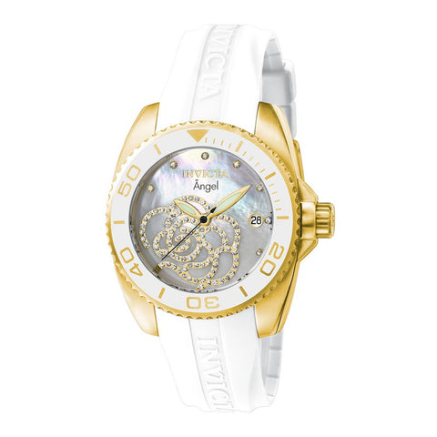 INVICTA Angel Lady 38mm Stainless Steel Gold White dial 2331/103 Quartz 0488