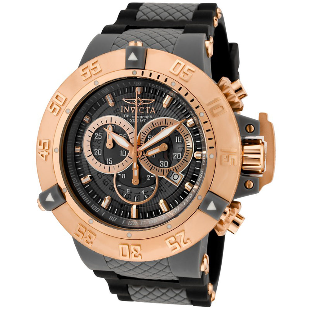 INVICTA Subaqua Men 50mm Stainless Steel + Plastic Rose Gold + Grey Grey dial VD53 Quartz 0932