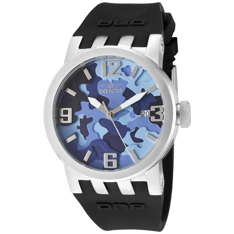 INVICTA Reserve Men 47mm Stainless Steel Black + Stainless Steel Blue dial 8040.B Quartz