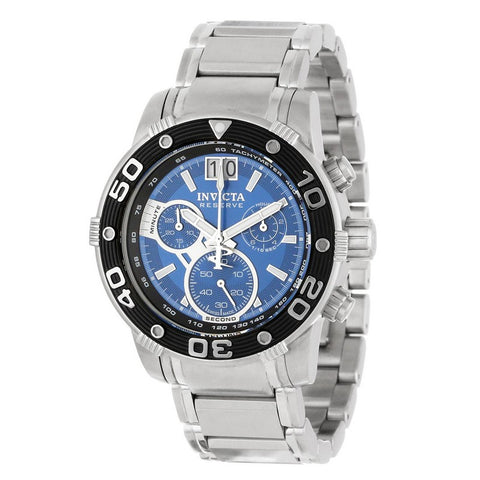 Invicta Reserve Men Swiss Quartz Chronograph 47mm Stainless Steel Watch 10588