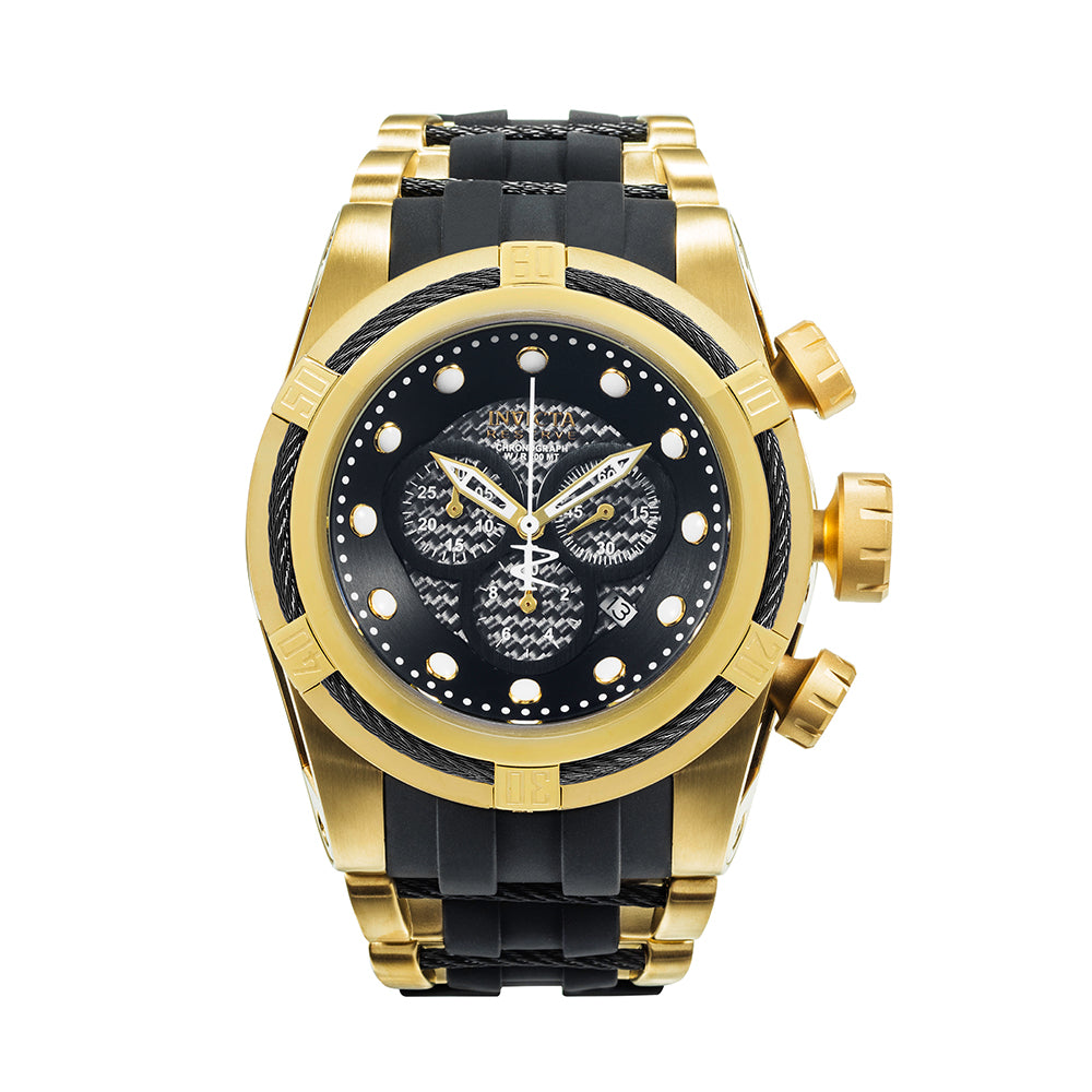 INVICTA Reserve Men 53mm Stainless Steel Gold + Black Black dial 5040.D Quartz 12666