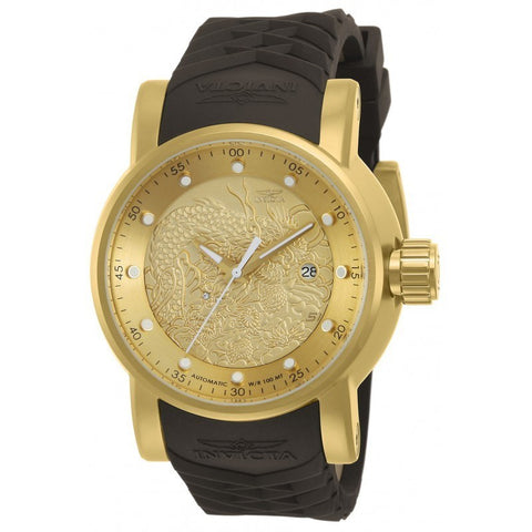INVICTA S1 Rally Men 48mm Stainless Steel Gold Gold dial NH35A Automatic 12790
