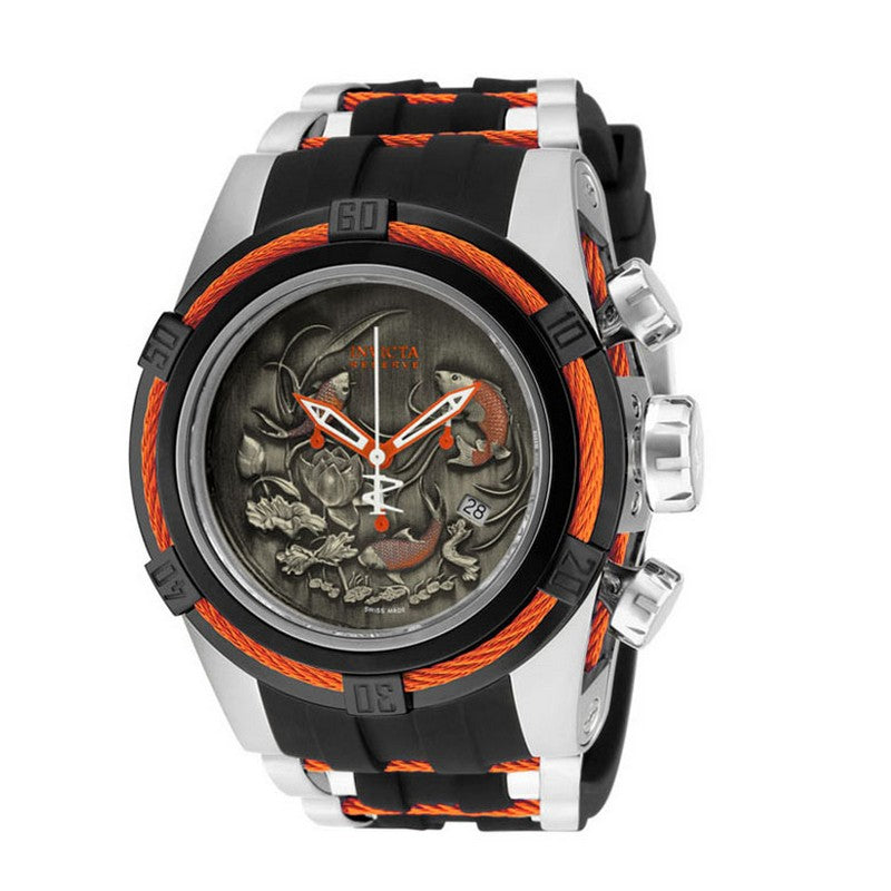 INVICTA Reserve Men 53mm Stainless Steel Black + Orange + Stainless Steel Black+Orange dial 5040.D Quartz 14193