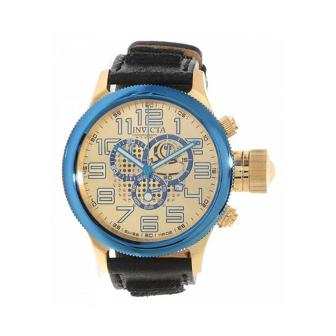 INVICTA Russian Diver Men 52mm Stainless Steel Gold + Blue Gold dial 8172/220 Quartz 14615