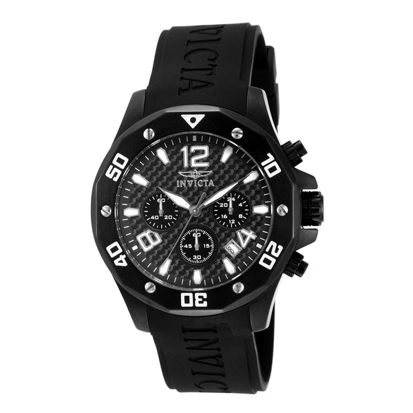INVICTA Specialty Men 45mm Stainless Steel Black Black dial VD53 Quartz 14890