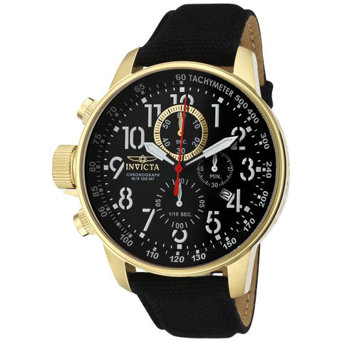 Invicta I-Force Men Chronograph Gold IP 46mm Quartz Watch 1515