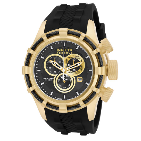 INVICTA Bolt Men 50mm Stainless Steel Gold + Black Black dial 8172/220 Quartz 15786