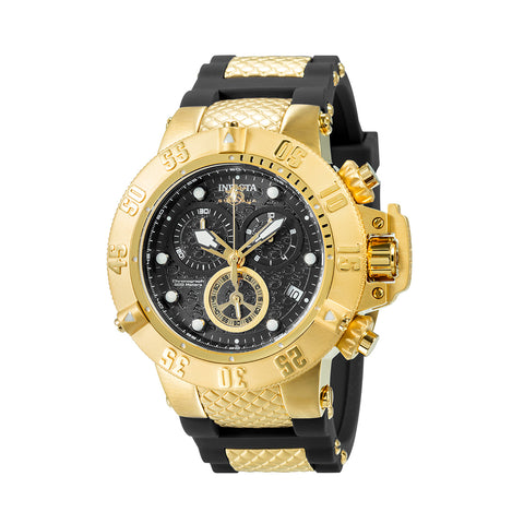 INVICTA Subaqua Men 50mm Stainless Steel Gold Black dial G10.211 Quartz 15799