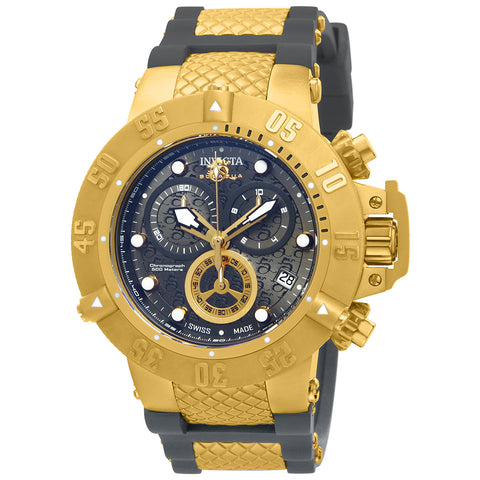 INVICTA Subaqua Men 50mm Stainless Steel Gold Gunmetal dial G10.211 Quartz 15801